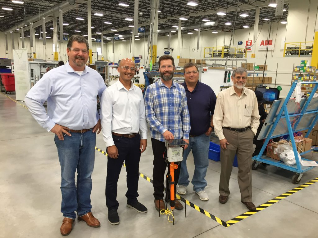 MN Senator John Jasinski and Thom Petersen, MN Commissioner of Agriculture, tour EarthScout manufacturing facility