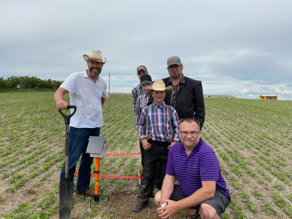 EarthScout installation in a hemp field