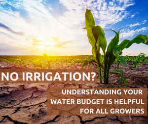 Understanding water budget for all growers